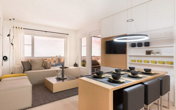 Heywood on the Park - Dining & Living Room